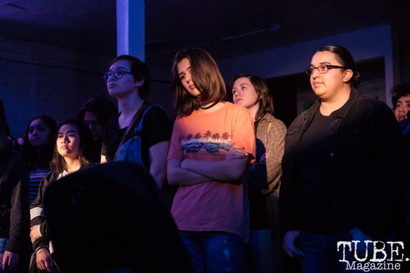 The crowd for Animals In The Attic at Sol Collective in Sacramento, CA (12/12/2017). Photo Cam Evans