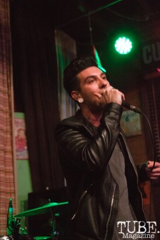 Vincent Adorno of Our People performing at Powerhouse Pub in Folsom, CA (1/17/2018). Photo Cam Evans