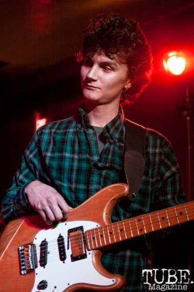 Tyler Valentino of Same Girls performing at Cafe Colonial in Sacramento, CA (1/10/2018). Photo Cam Evans
