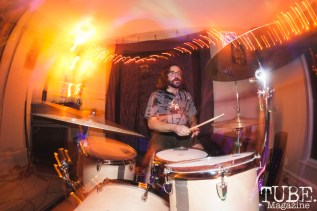 Ethan Norvell of Knobby performing at The Morgue in Davis, CA (1/20/2018). Photo Cam Evans