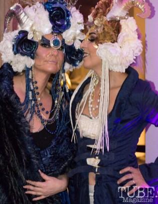 Miss Velvet Cream & amp; Bluemooninspired, Art Mix Masquerade, Crocker Art Gallery, Sacramento, CA January 11, 2018, Photo by Daniel Tyree