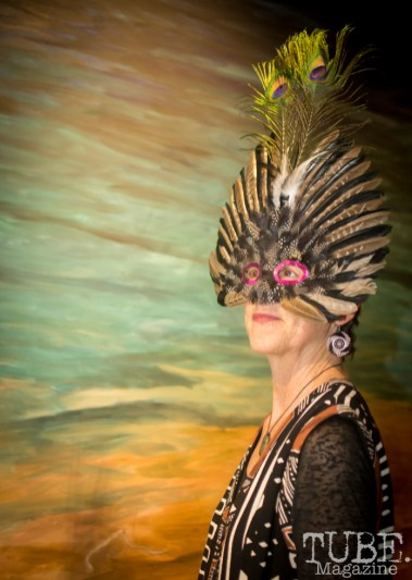 Elaborate Masquerade Mask, Art Mix Masquerade, Crocker Art Gallery, Sacramento, CA January 11, 2018, Photo by Daniel Tyree
