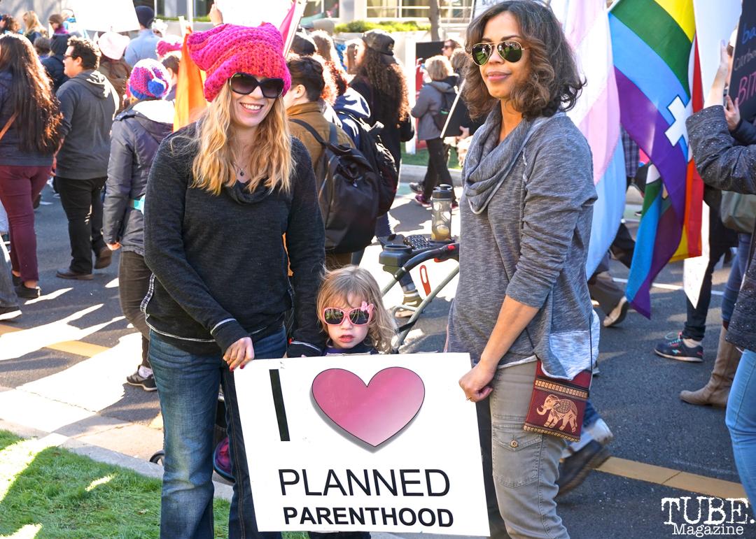 Summer Simoes & Lovelle Harris during the Women's March, Sacramento CA. January 2018. Photo Joey Miller