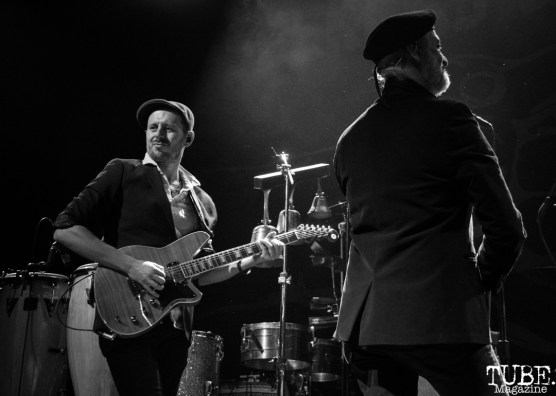 Guitarist Boris Pelekh and Violinist Sergey Ryabtsev of Gogol Bordello, The Fillmore, San Francisco, CA. February 27th, 2018. Photo Anouk Nexus