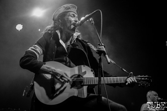 Vocalist Eugene Hütz of Gogol Bordello, The Fillmore, San Francisco, CA. February 27th, 2018. Photo Anouk Nexus