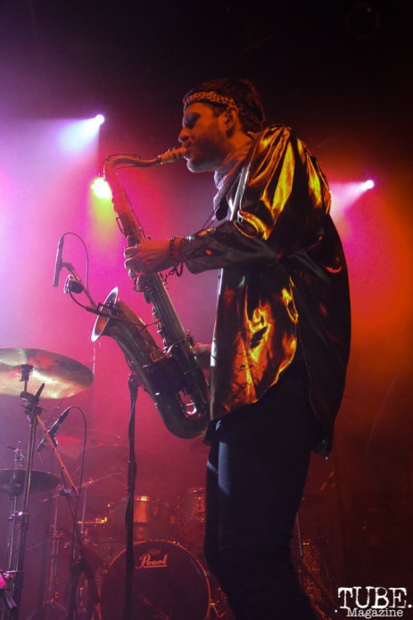 Saxophonist Daro Behrooz of Lucky Chops, The Fillmore, San Francisco, CA. February 27th, 2018. Photo Anouk Nexus