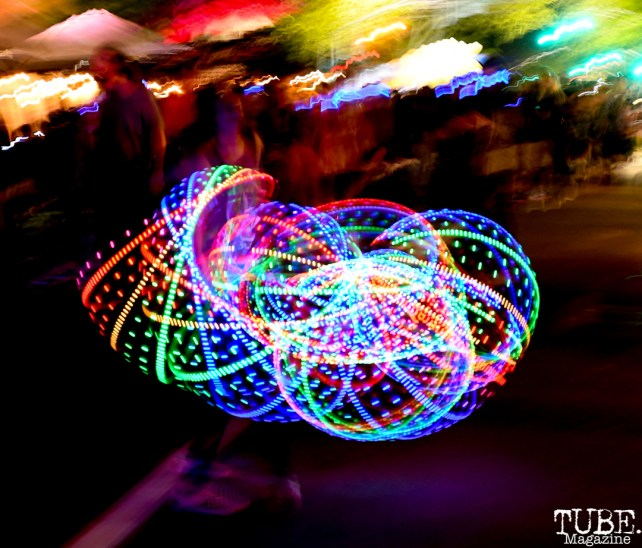Hula Hooping, The 24k Block Party, May 19, 2018, Sacramento, CA, Photo by Daniel Tyree