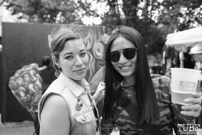 Local artists, Athena Alber and Lin Fei Fei, Concerts in the Park, May 3, 2018, Sacramento, CA, Photo by Daniel Tyree