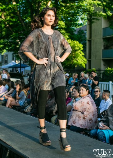 Shelby Stepper wearing clothes from Richard Hallmarq Clothing, Dress Up-Wine Down, Capitol Avenue, Sacramento, CA. May 12th, 2018. Photo Mickey Morrow