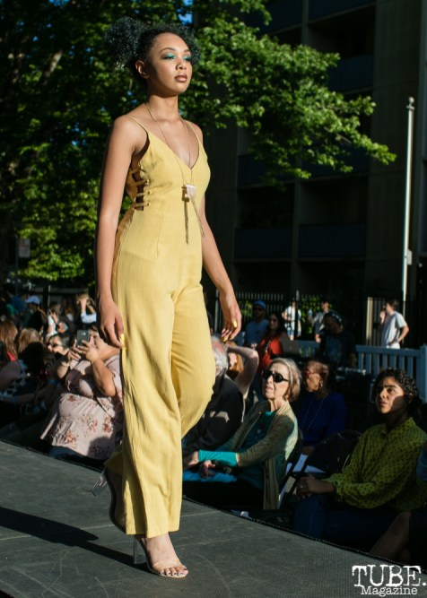 Amyah wearing clothes from Heart Boutique, Dress Up-Wine Down, Capitol Avenue, Sacramento, CA. May 12th, 2018. Photo Mickey Morrow
