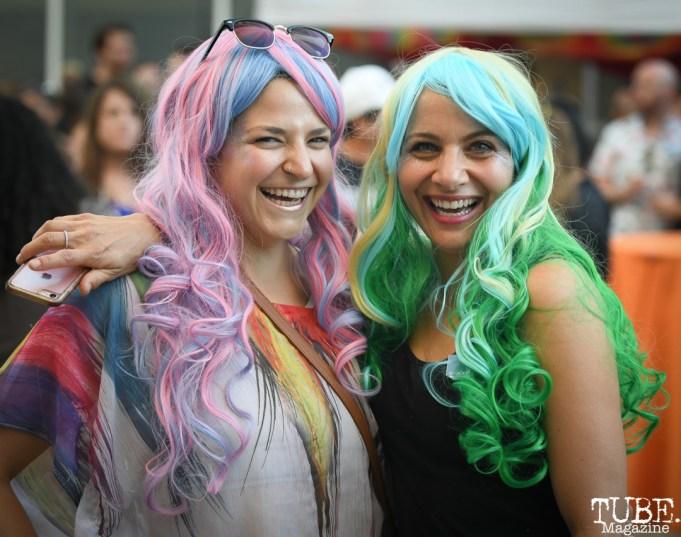 Attendees at Art Mix Pride: The Musical, Crocker Art Museum, Sacramento, CA, June, 14, 2018, Photo by Daniel Tyree