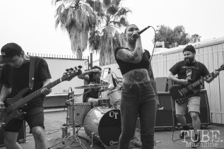 Provoke performing at Phono Select Records in Sacramento, CA (7/29/2018). Photo Cam Evans
