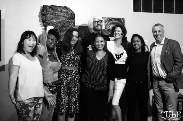 Comedians for The Invisible Disabilities Comedy Show, Invisible Disabilities open mic. Luna's Cafe, Sacramento, CA. September 12th, 2018. Photo by Mickey Morrow.