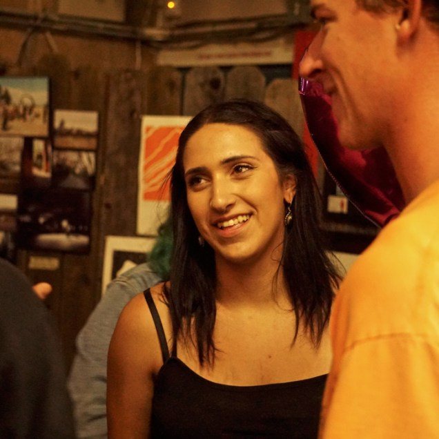 Hannah Mugford, Art Show, Boulevard Skate Shop, September 22, 2018, Sacramento CA. Photo by Joey Miller