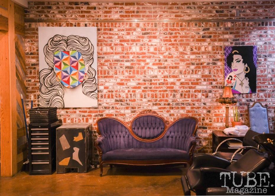 Art by JM Knudsen, Mystic Pop-Up Show, Alchemy Salon & Spa, Sacramento, CA, October 19, 2018, photo by Daniel Tyree