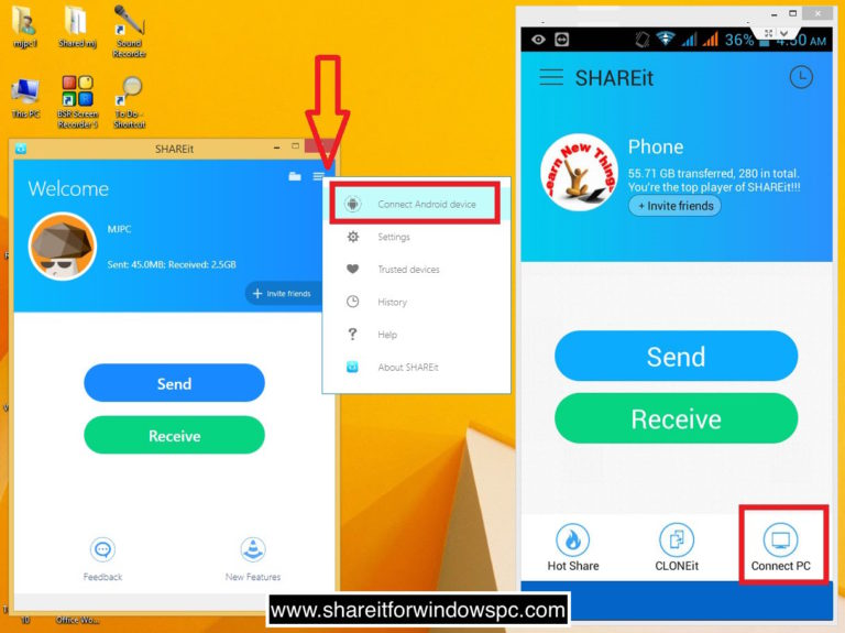 SHAREit for PC & Mobile