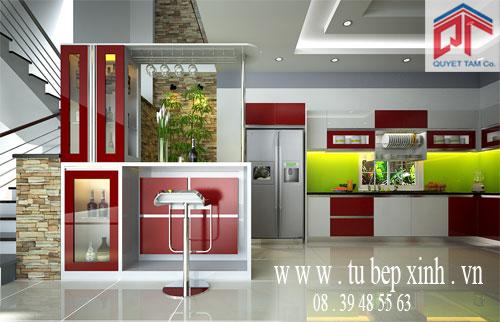 Tủ bếp hiện đại nhà chị Thục-Đồng Nai