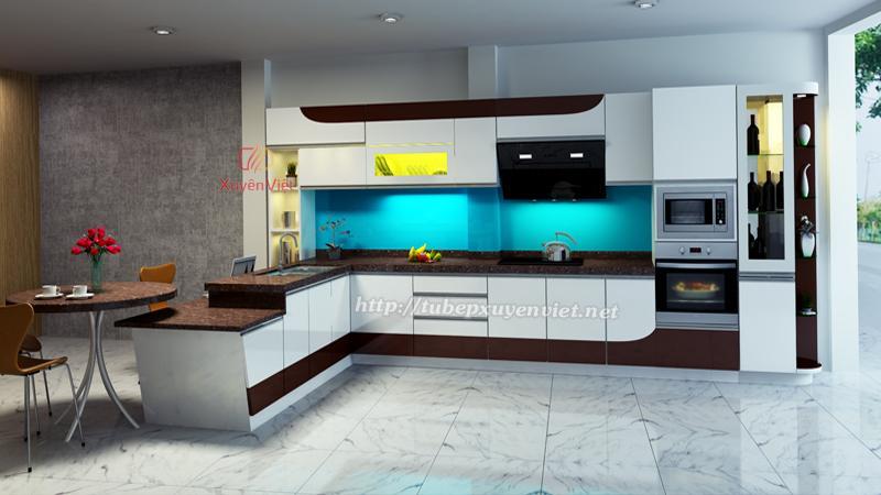 Tủ bếp đẹp chữ L XV184