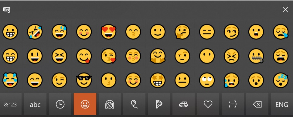 Windows-10-emoji-feature-in-touch keyboard-TuberTip.com