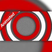 Video Transition Red and White Circles