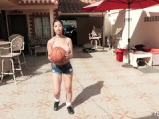 Big Boob Asian Jade Kush Scores A Big Cock For Her Pussy After Basketball