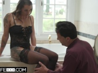 HotwifeXXX-Sexy Wife Piper Is Treated To Deepthroat And Facial For Husband