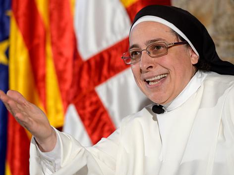 """Die spanische Ordensfrau Lucia Caram: Josef und Maria waren """"normales Paar"""". Bild: APA/AFP/Josep Lago"""