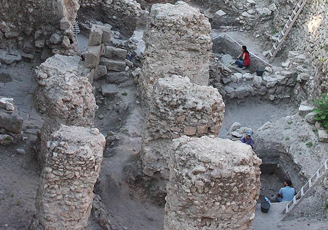 Die Ausgrabungsstätte in Sidon