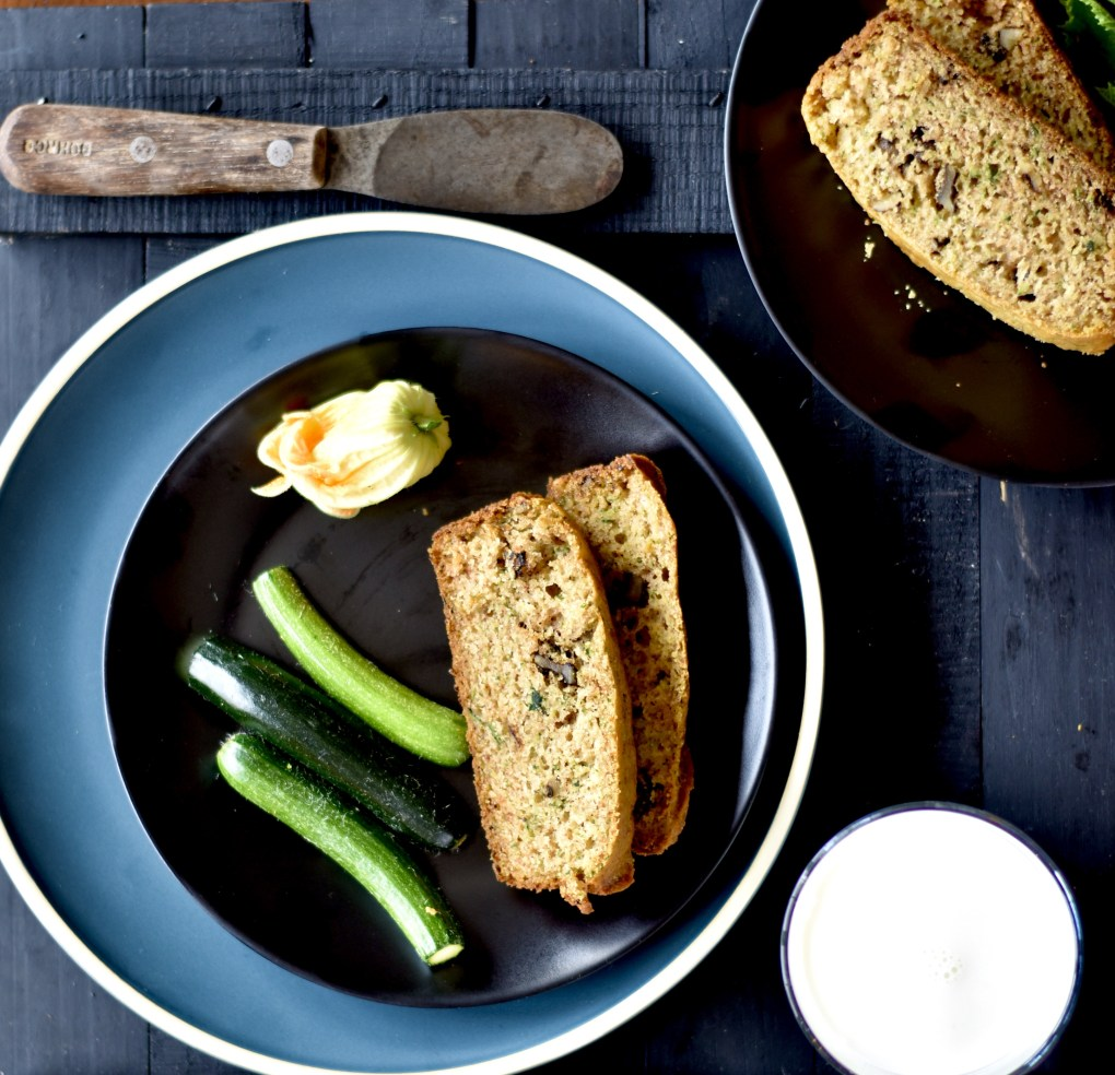 zucchini bread from above