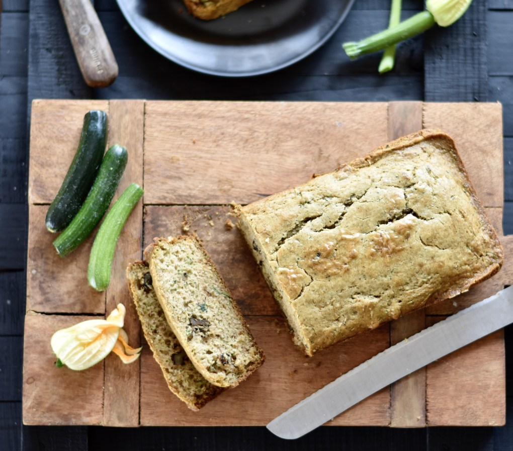 zucchini bread seen from over head