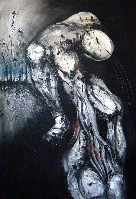 Nikola Ojdanic, Roots, oil on canvas, 100 x 70 cm, 2015