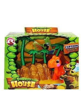 Ferma animalelor Dino - culoare portocaliu