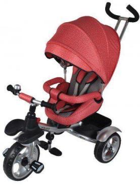 Carucior tricicleta textil multifunctional 3 in 1 LIAN JOY - culoarea rosu