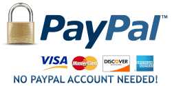Pay with Paypal, no Paypal acct required.