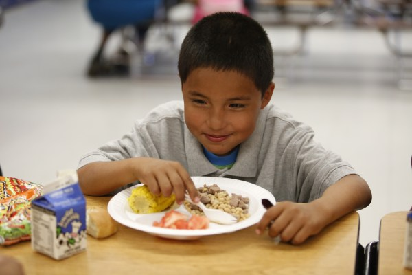 Santa Rosa Day School in Tohono O'odham Nation introduced traditional healthy foods, such as white tepary beans, into school lunches because the tribe has the highest rate of diabetes in the world. The food in the school cafeteria is delivered by Tohono O'odham Community Action program.