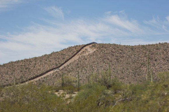 The Organ Pipe Cactus National Monument borders Mexico for 30 miles.
