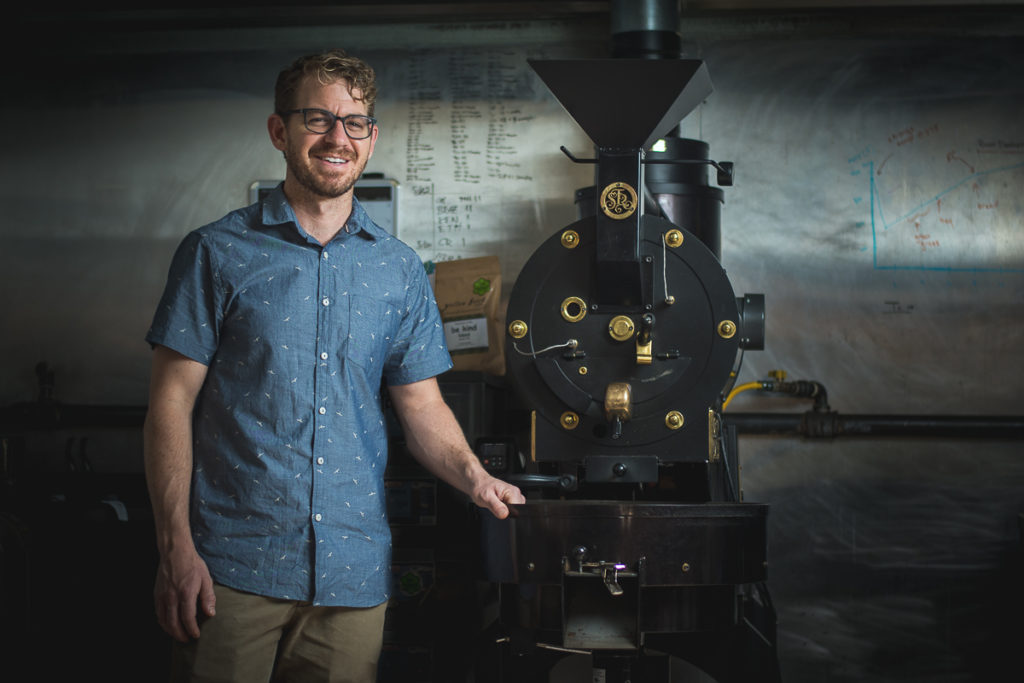 Yellow Brick Coffee roaster David Perreira (Credit: Jackie Tran)