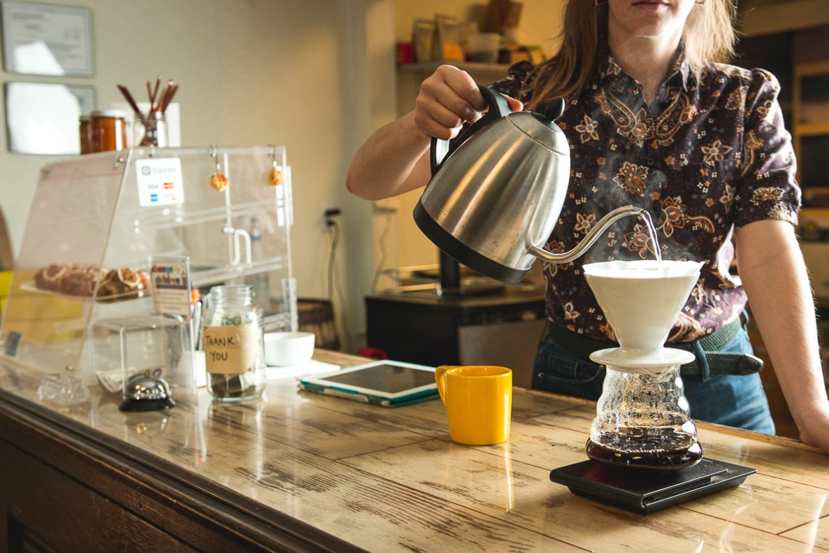 Pour-over coffee at Yellow Brick Coffee (Credit: Jackie Tran)