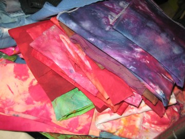 I'm pretty sure most of these were ice-dyed by my mother