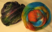 The roving was hard to take a picture of because the colors look almost totally different from different angles