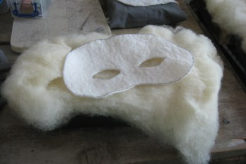 The mask blank and filler roving before I started