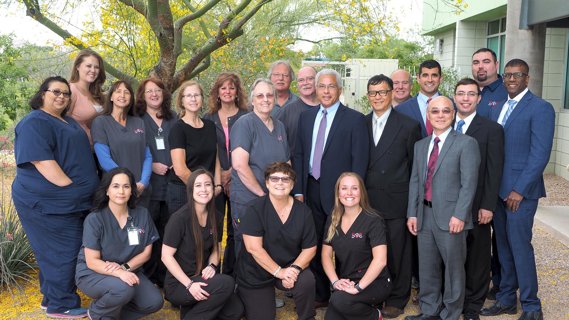 Group photo of Tucson Pathology Staff