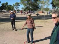 Lori in the circle, with Fritz
