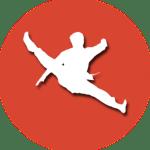 Icon mit Martial Arts Tricking Person drauf