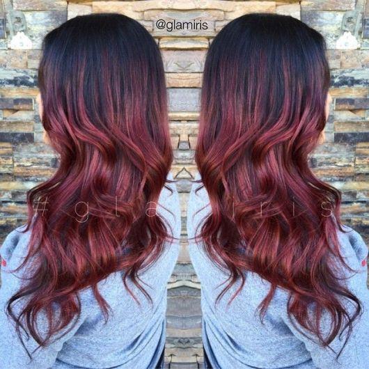 Ombr Hair Vermelho Tons Mais Indicados Cuidados E De