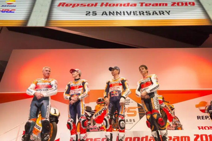 Doohan, Crivillé, Márquez e Lorenzo - Equipe Honda