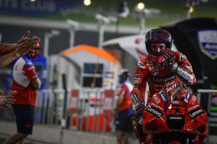 MotoGP - no GP do Qatar, Francesco Bagnaia com a Ducati sai na pole