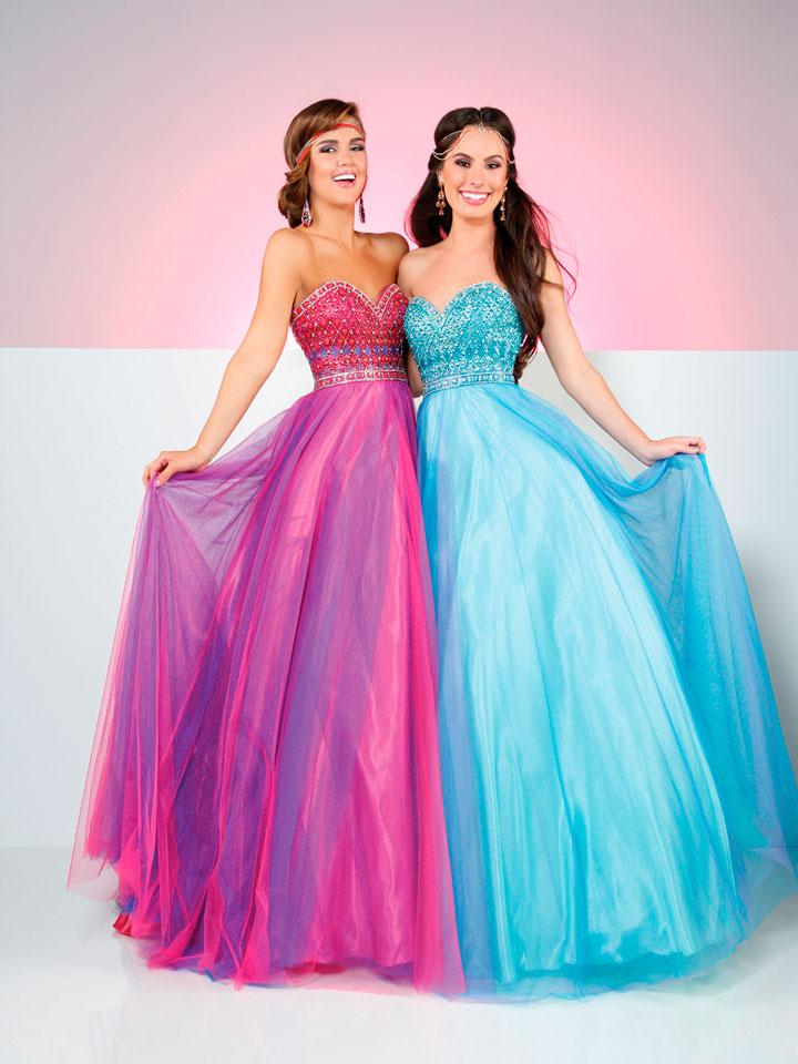 Vestidos para debutantes coloridos