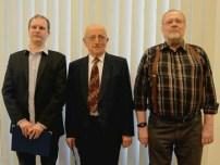 Díjazottak, balról jobbra: Hanula Zsolt, Füstöss László és Horváth András