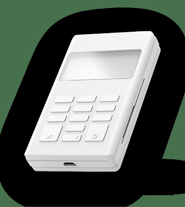Mockup card reader for app & online ordering